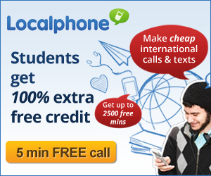 Students receive 100% extra credit with Localphone